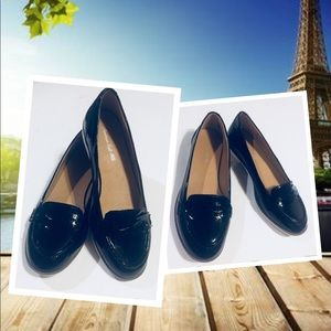American Eagle Penny Loafer Faux Patent Leather